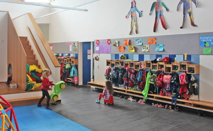 Kinderg rten 3s m bel for Garderobe kindergarten